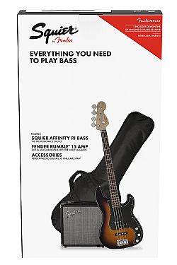 Fender SQUIER AFFINITY P-BASS PJ PACK SB