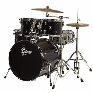 GRETSCH BH-E825H2-LB BLACKHAWK LIQUID BLACK DRUM SET