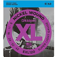 DADDARIO EXL120 ELECTRIC GUITAR STRINGS 9-42